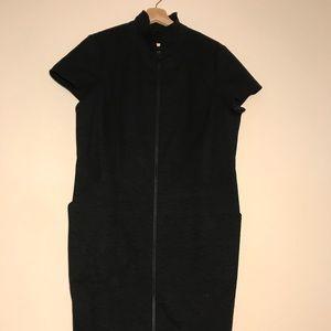 Lafayette 148 black Camber Cotton Embroider Dress